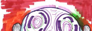 Detalle de la obra de Luis Gordillo. Sin Título, técnica mixta, 20,9 x 29,7 cm. 2020 — Cortesía de Di Gallery