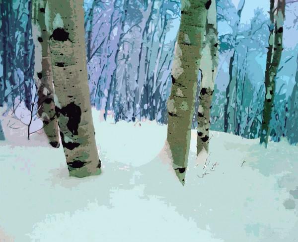 Renato Manzoni, En el bosque -invierno-, 2013