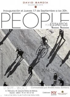 "Cartel de la exposición ""People\"" por Estartús"