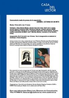 Carmen. Lectura del mito