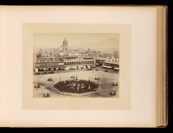 Courret Brothers ( Eugenio Courret, France, 1841-190?) (Aquiles Courret, France, 1830-?) Place d'Armes, Lima, from the album Views of Chile and Peru, ca. 1868. Getty Research Institute, 96.R.1.