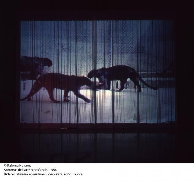 © Paloma Navares. Sobras del sueño profundo, 1986. Vídeo-instalación sonora – Cortesía de Kubo Kutxa