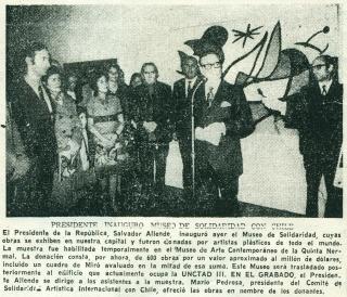 Solidaridades. Obras del Museo de la Resistencia Salvador Allende en el MACVAC – Cortesía del useo de Arte Contemporáneo Vicente Aguilera Cerni de Vilafamés (MACVAC)