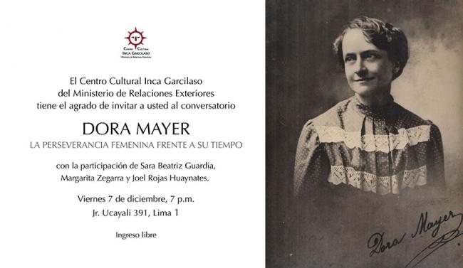 Dora Mayer. La perseverancia femenina frente a su tiempo.Imagen cortesía Centro Cultural Inca Garcilaso del Ministerio de Relaciones Exteriores