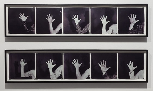 Robert Kinmont, This is my Hand  1970. Cortesía Alexander and Bonin
