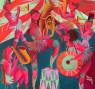 Marina Anaya. Circo Jupiter, 150x150 cm. — Cortesía de Arte Periférica Galeria