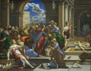 El Greco, Christ Cleaning the Temple