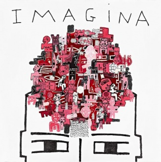 Joaquín Barón, Imagina, 2017, técnica mixta sobre tela, 100x100 cm. – Cortesía de Marlborough Barcelona