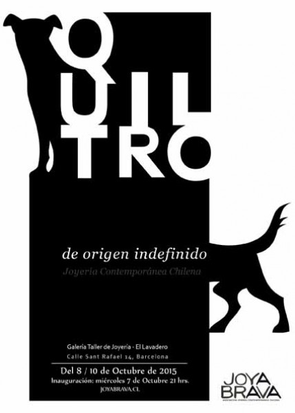 Cartel de la exposición Quiltro