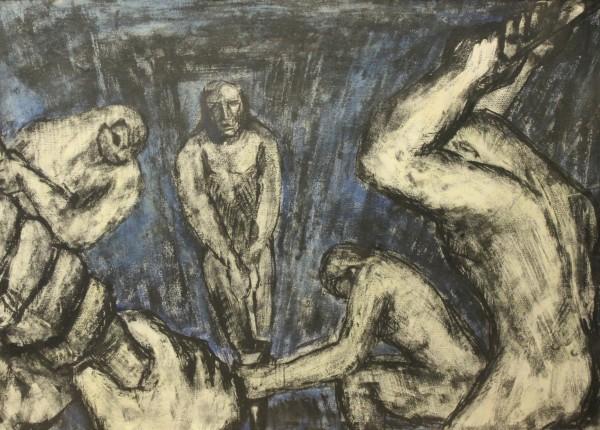 Miguel Herrero, El Martinete, 1947. 63x90 cm. Técnica mixta sobre papel