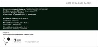 Fabrication of (non)sense - Encuentro con el artista y la comisaria