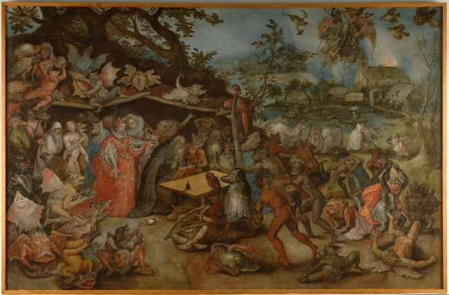 Tentaciones de San Antonio, comienzos del sg. XVII. Jan Brueghel. Museo Nacional de Escultura — Cortesía del Museo Nacional de Escultura