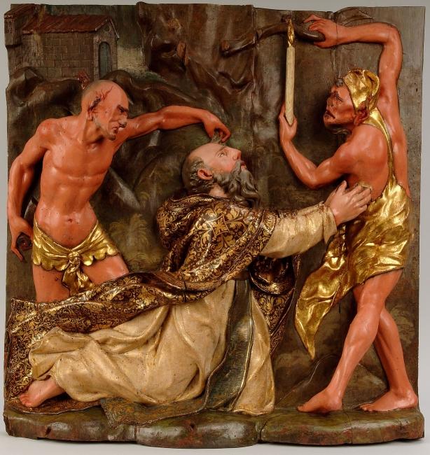 San Antonio atormentado por los demonios, 1553-1559. Diego Rodríguez y Leonardo de Carrión. Museo Nacional de Escultura — Cortesía del Museo Nacional de Escultura