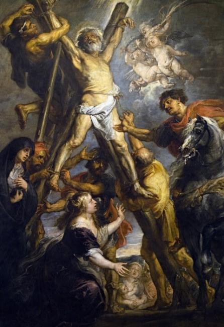 Peter Paul Rubens, El martirio de san Andrés. Fundación Carlos de Amberes, Madrid — Cortesía del Museo Nacional Thyssen-Bornemisza