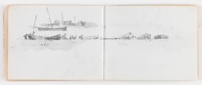 Cuaderno de Asturias Cecilio Pla Lápiz compuesto 1890 Madrid, Museo Nacional del Prado — Cortesía del Museo del Prado