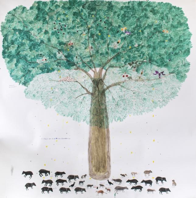 Abel Rodriguez, El árbol de la vida y la abundancia, 2019