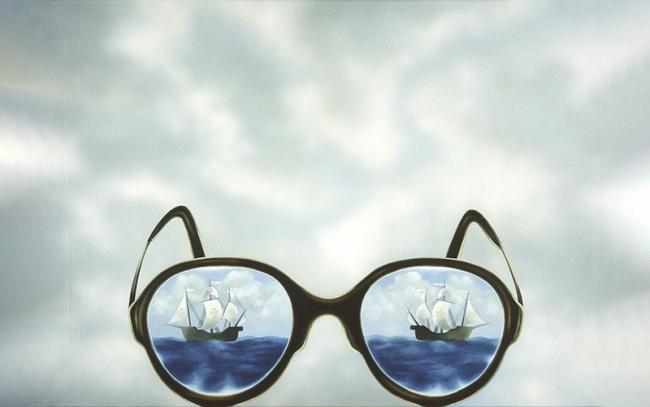 António Costa Pinheiro (1932-2015)«Os Óculos do Poeta Álvaro de Campos»,1980. Óleo sobre tela Museu Calouste Gulbenkian – Coleção Moderna
