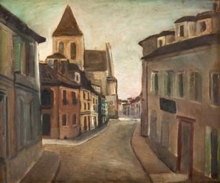 Di Cavalcanti, Ruas de Paris, 1924 óleo s tela 45cm x 56cm
