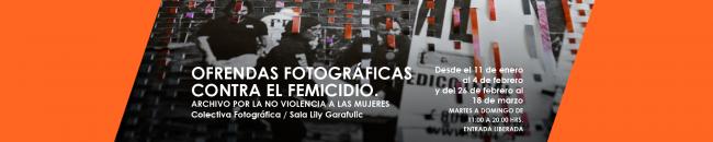OFRENDAS FOTOGRÁFICAS CONTRA EL FEMICIDIO