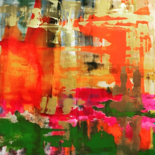 Delia Piccirilli. El ruido del mundo #10. Mixta Papel 50x50 cm. — Cortesía de la artista