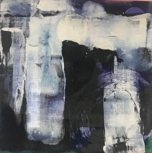 Delia Piccirilli. Silente #11. Mixta tela 50x50 cm. — Cortesía de la artista