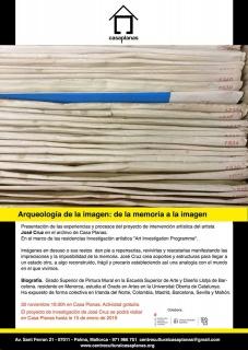 José Cruz. Arqueología de la imagen: de la memoria a la imagen