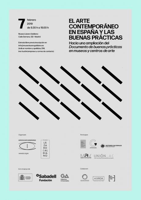 Cartel de El arte contemporáneo en España y las buenas prácticas