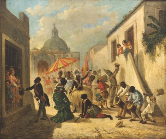 """Victor Patricio Landaluze, """"Día de los reyes en La Habana"""", ca. 1860–1880  Cortesía del Museo Nacional de Bellas Artes, La Habana."""