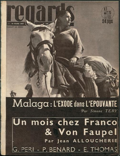 Gerda Taro. Regards, 18 de julio de 1937, portada. Bibliotheque Nationale de France — Cortesía del Centro Andaluz de la Fotografía