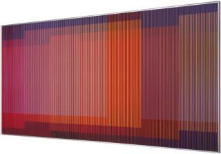 Physichromie 1916, Paris 2014  chromographie sur aluminium et lamelles de plastique   100 x 200 cm