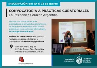 Convocatoria a prácticas curatoriales en Residencia Corazón Argentina