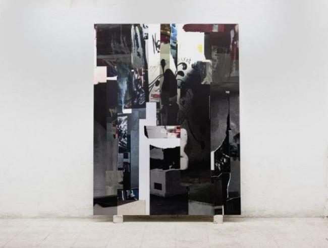 Nacho Martín Silva. nº8 (Piece of Trash). 2019. Collage. 200 x 150 cm. — Cortesía de la Galería Max Estrella