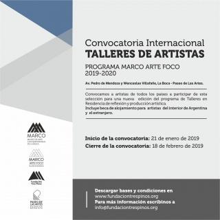 Convocatoria internacional MARCO ARTE FOCO 2019 – 2020