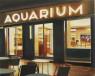 Damián Flores. Bar Aquarium, 2020. Óleo sobre lienzo. 33x41 cm. — Cortesía de la galería Utopia Parkway