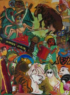 Paula Rego, The Vivian Girls on the Farm, 1984 – 1985. Col. Fundação de Serralves – Museu de Arte Contemporânea,Porto. Prémio Benetton / Amadeo de Souza-Cardoso em 1987, 1989 — Cortesía de la Fundação de Serralves