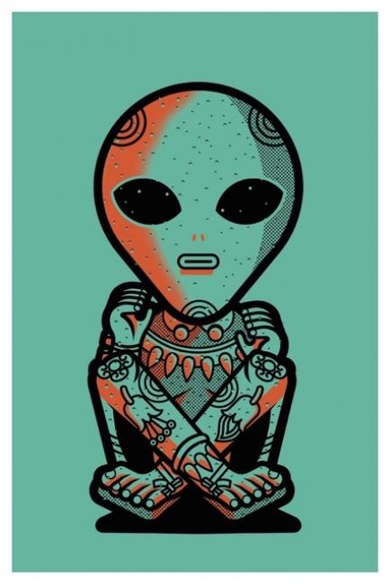 Alderete, Alien — Cortesía de La Fiambrera Art Gallery