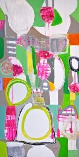 Astrid Sommer, Calalá, 2018, acrylic on canvas, 183x92 cm. — Cortesía de Stoa Gallery