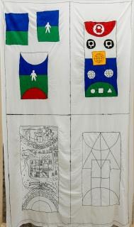 Matt Mullican, Untitled (Chart Nr.1), 2018. Cortesía galería ProjecteSD & MUSAC, Museo de Arte Contemporáneo de Castilla y León