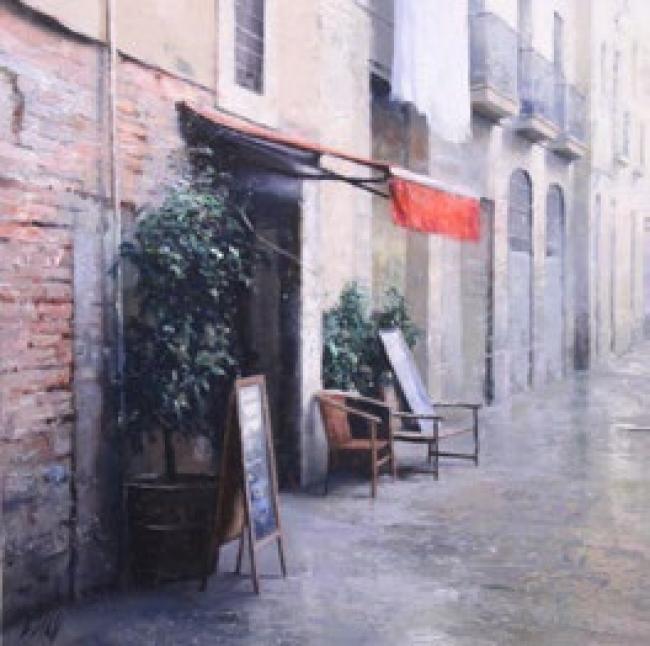 Carlos Díaz, Punt vermell — Cortesía del Gremi de Galeries d'Art de Catalunya