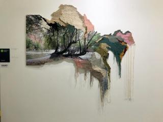 La obra 'Vilcanota3 de Ana Teresa Barboza, en Espacio Liquido, obra adquirida por Fundación María Cristina Masaveu Peterson. Cortesía de JUSTMAD.