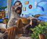 Michele del Campo, Best Friends, 140x170 cm. óleo sobre lino — Cortesía de la Galería Ansorena