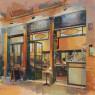 El sortidor, de Keiko Ogawa, 116 x 116 cm. — Cortesía de Galeria Jordi Barnadas
