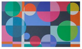 """Graciela Hasper, """"Sin Título"""", 2018. Acrílico sobre tela, 98 x 168 cm"""