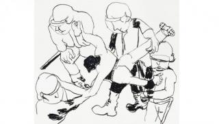 Anne-Marie Schneider. Sin título, 1996-1997. Carboncillo sobre papel. Fonds régional d\'Art contemporain Provence-Alpes-Côte d\'Azur. Inv: 2005.512 Cortesía del Museo Reina Sofía