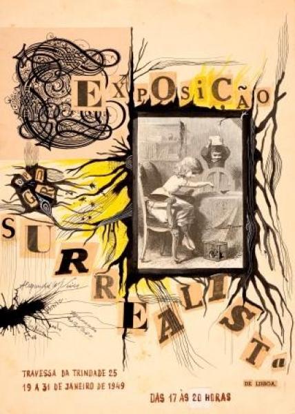 Cartaz da 1ª. Exposição Surrealista de Lisboa, Janeiro de 1949