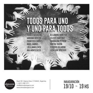 TODOS PARA UNO Y UNO PARA TODOS. Imagen cortesía El Mirador Galería de Arte Contemporáneo