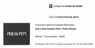 Conversas a partir de Coleções Particulares: José Carlos Santana Pinto e Paulo Mendes