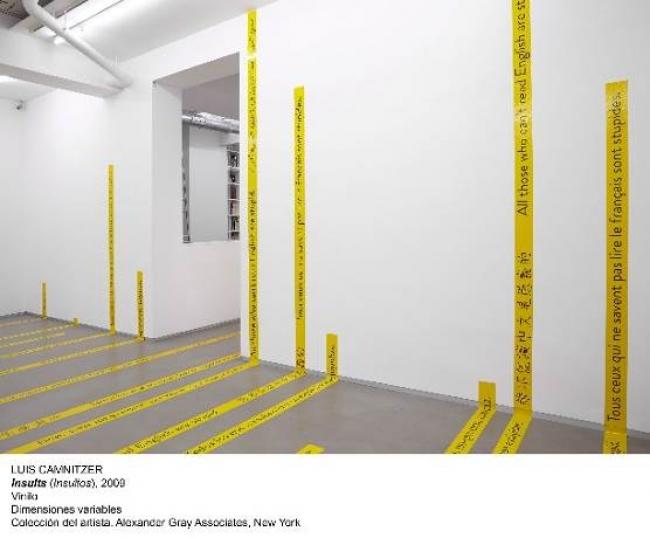 Luis Camnitzer, Insults, 2009. Vinilo. Dimensiones variables. Colección del artista. Alexander Gray Associates, Nueva York — Cortesía del MNCARS