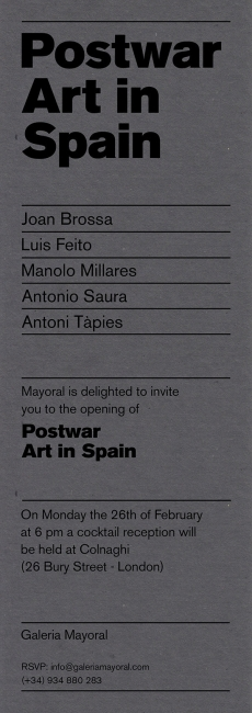 Postwar Art in Spaiin