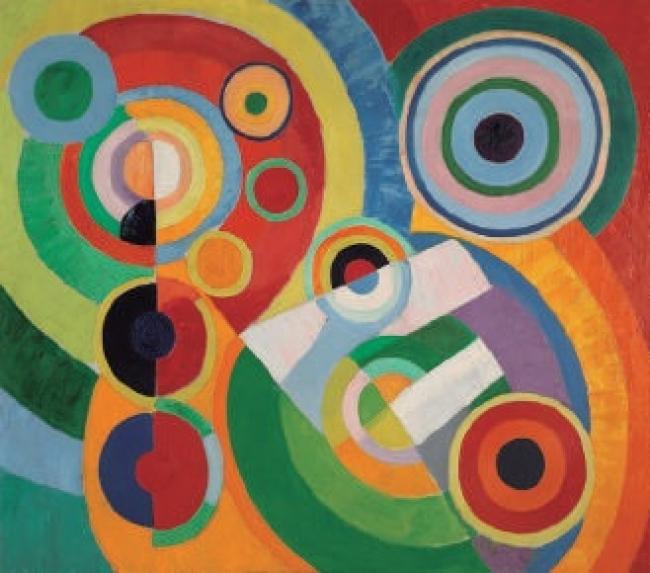Robert Delaunay. Rythme, Joie de vivre (Ritmo, alegría de vivir), 1930. Óleo sobre lienzo – 200 x 228 cm. Donación de Sonia Delaunay y Charles Delaunay, 1964 – Cortesía del Centre Pompidou Málaga